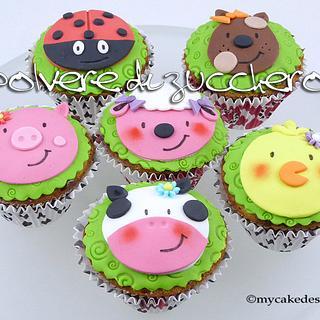Tutorial cupcake farm animals