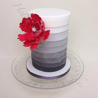 Fifty shades of grey inspired - Cake by Helen Allsopp