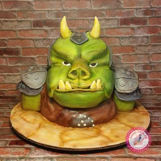 """Gamorrean Guard, """"May the 4th Be With You"""" Collaboration Cake"""