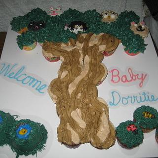 Woodland Animals Baby Shower Cupcake cake