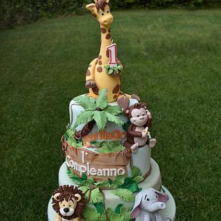 Torta animali della giungla - Jungle cake - Cake by Dolcidea creazioni