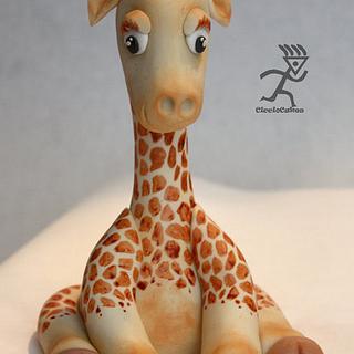Sugarpaste Harold the Baby Giraffe Topper