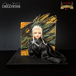 Game of thrones cake with daenerys  - Cake by Claire DS CREATIONS
