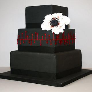 Dramatic black cake