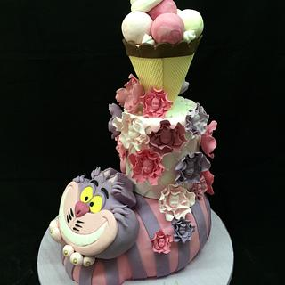 Alice in wonderland and ice cream - Cake by Galatia