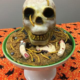HALLOWEEN SKULL CAKE - Cake by Lilissweets