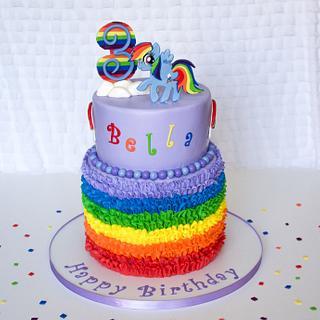 Rainbow Dash Cake - Cake by RedHeadCakes