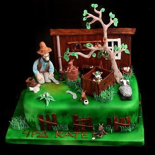 Pettson and Findus cake - Cake by Lili Brankova