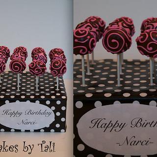 Elegant cake pops
