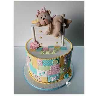Baby Girl Patchwork cake