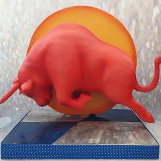3D Red bull cake