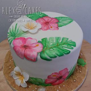 Beach theme cake - Cake by Alex