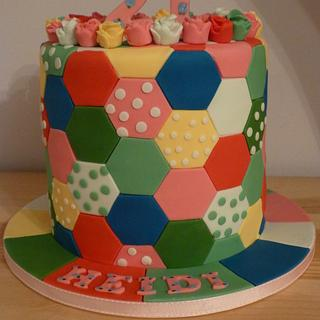 HEXAGON PATCHWORK CAKE