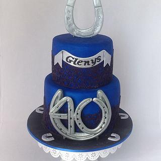 Horseshoe 40th Cake
