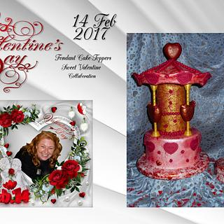 """""""Broken Hearts can be Healed""""Fondant Cake-Topper - Sweet Valentine Collaboration 2017 my piece"""