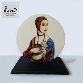 The lady with the ermine for Leonardo Da Vinci Sugar Art Collaboration