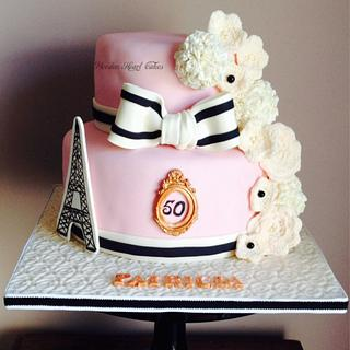 Paris and Pom Pom's  - Cake by Wooden Heart Cakes