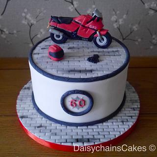 Motorbike 60th birthday cake - Cake by Daisychain's Cakes