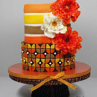 Retro Thanksgiving cake - Cake by CuriAUSSIEty  Cakes
