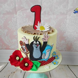Little Mole with friends - Cake by Petra Krátká (Petu Cakes)
