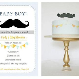 Moustache babyshower  - Cake by Patricia Tsang