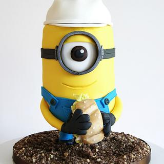 Construction Minion Cake