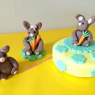 Rabbits - Cake by Pattiecake