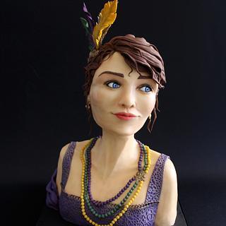 Mardi Gras Carnival Cakers Collaboration - Cake by Angela Penta