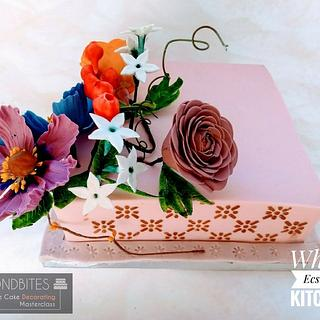 Stenciling on a square cake