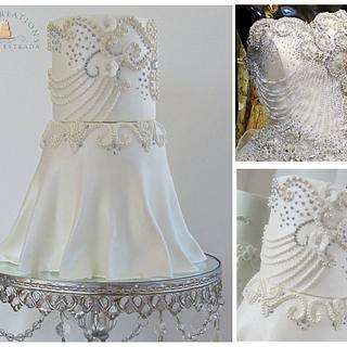 Diamonds & Pearls Wedding Dress
