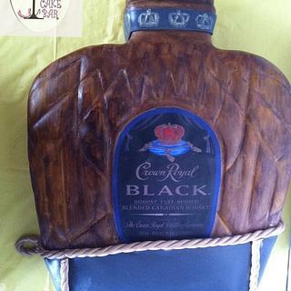 Crown Royal Black! - Cake by TheCakeBar