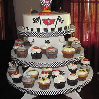 Cars Cupcake Tower