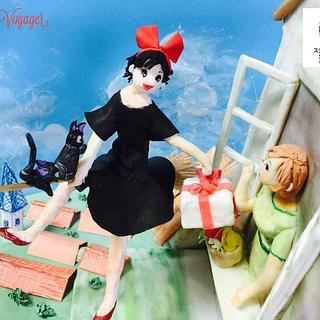 Kiki's Delivery Service - Studio Ghibli Cake Collab  - Cake by sugar voyager
