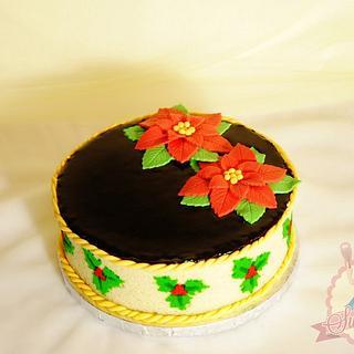 Printed Christmas Sponge Cake
