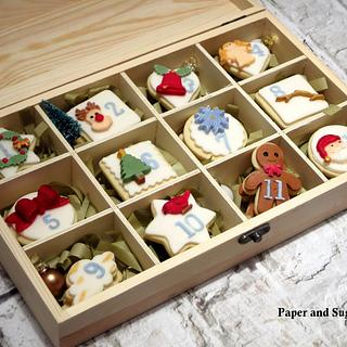 Cookie Box, Twelve Days of Christmas.