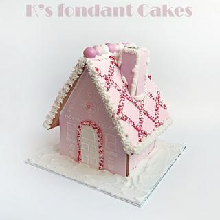 Pink & Red 3d Gingerbread houses