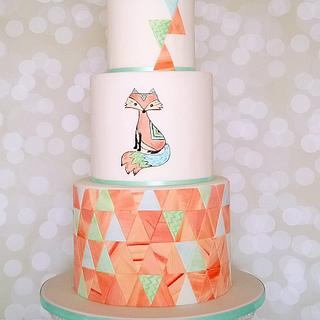 Mosaic Fox Cake