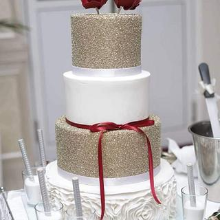Golden white cake