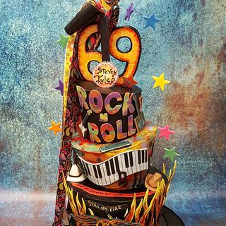 Rock Star's Birthday cake - Cake by cheryl arme