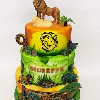 Lion cake - Cake by VanessaFontana