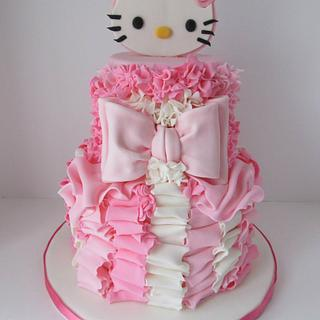 Pretty In Pink Hello Kitty 4th Birthday Cake