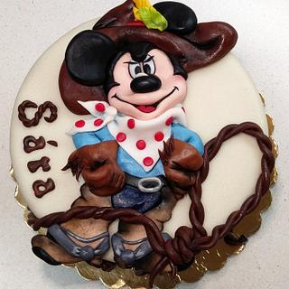 Mickey Mouse as cowboy