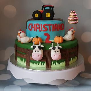 Farm cake - Cake by Pluympjescake