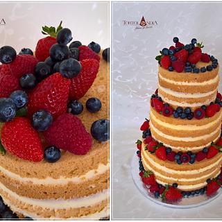 Naked cake & Fresh fruits