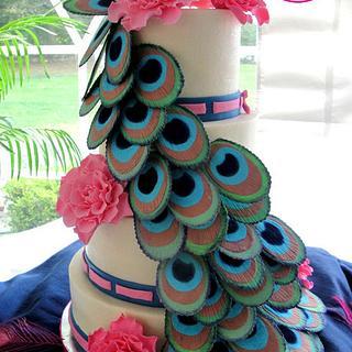Peacock and Dahlia Fantasy Flowers Wedding