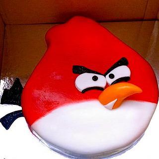 Red Angry Bird Cake - Cake by Mimi's Sweet Shoppe Amanda Burgess
