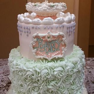 Sprinkle Baby Shower Cake