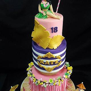 LUAU THEME DEBUT CAKE