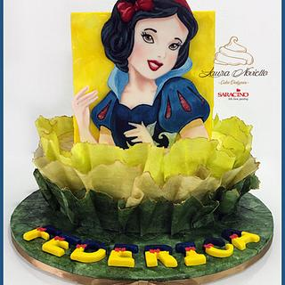 Snow White Wafer Paper Cake