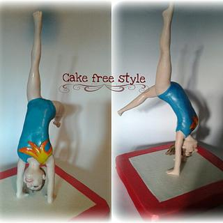 topper cake ginnasta